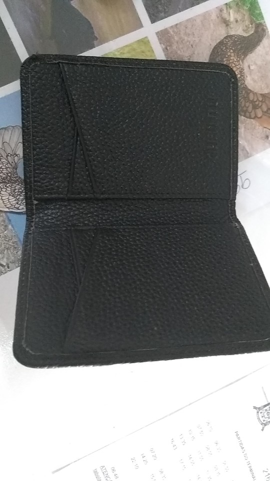 GUBINTU Genuine Leather Credi Card Wallet RFID Front Pocket Wallet Mens Women ID Card Pack Bank Card Holder Business Small Purse photo review