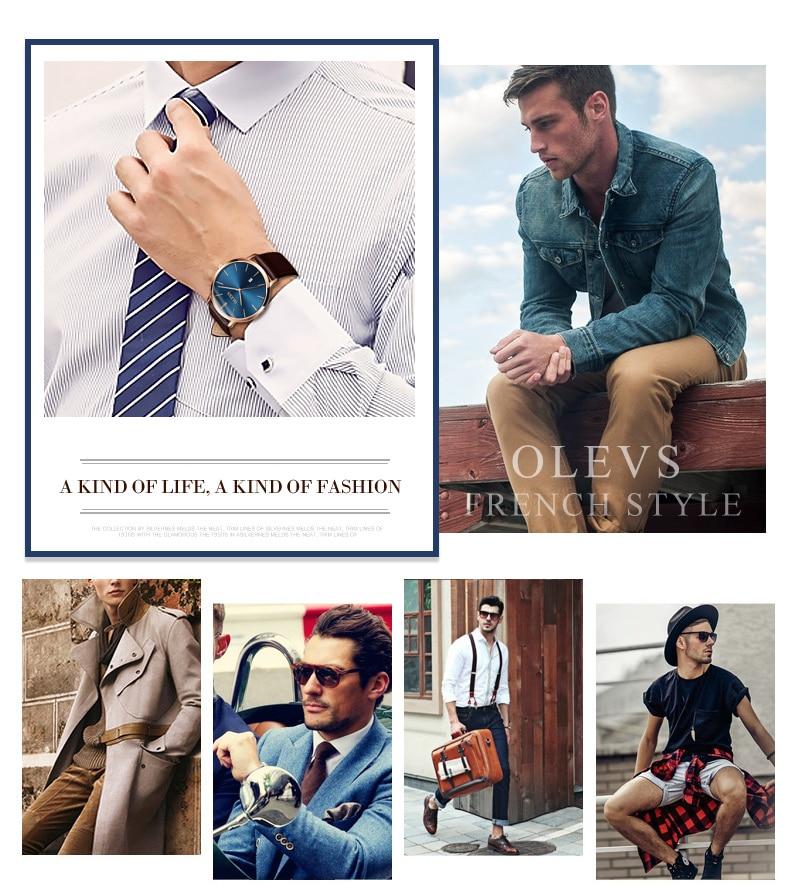 UTB8NOslcNHEXKJk43Jeq6yeeXXaf 60% OFF OLEVS Men Ultra thin Watches - Top Brand Luxury Quartz Watch Men's [ New ]