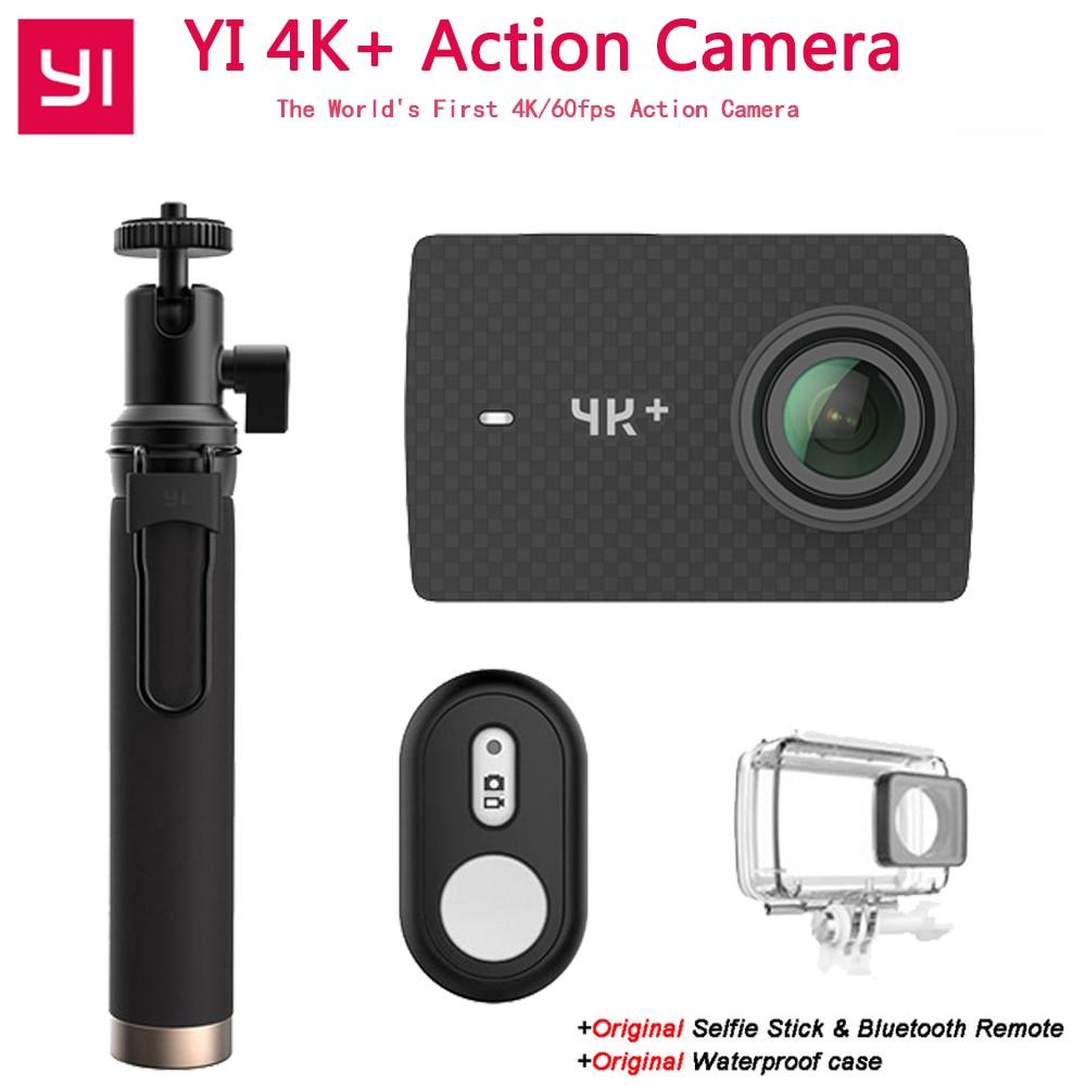 Xiaomi YI 4 k + Action Caméra Ambarella H2 12MP 155 Degrés 2.19 BRUT YI 4 k + Première 4 k/60fps Sport Caméra [International Version]