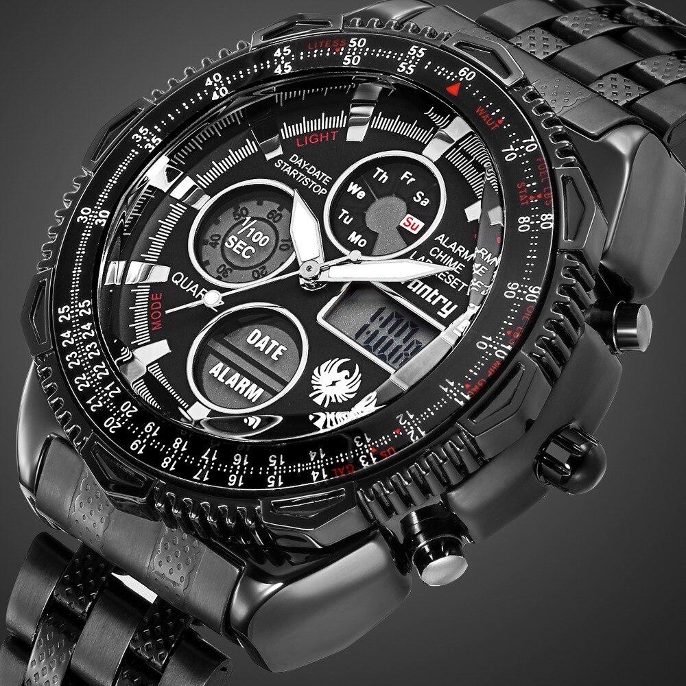 caef5a62a59 INFANTARIA Militar Homens Relógio Analógico Digital Mens Relógios Top Marca  de Luxo Do Exército Piloto Tático