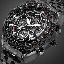 Мужские часы в армейском стиле, аналоговые, цифровые, мужские часы, Топ бренд, Роскошные, армейские, тактические, пилот, спортивные, черные, часы, Relogio Masculino