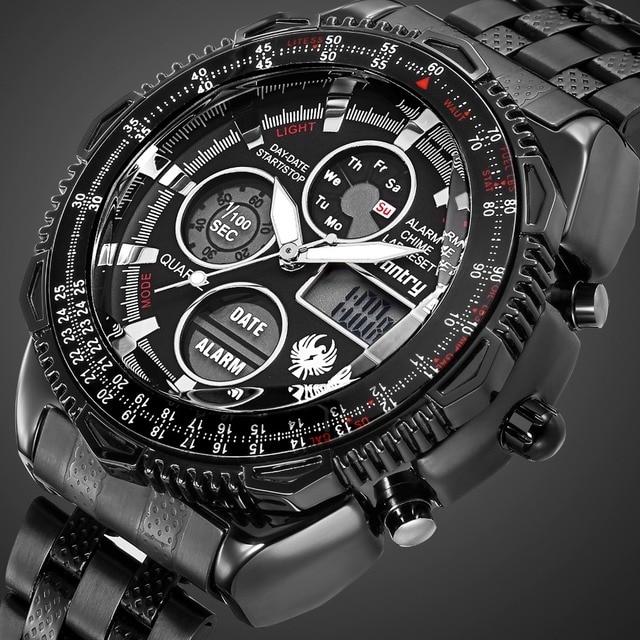75e58317ad1 INFANTARIA Militar Homens Relógio Analógico Digital Mens Relógios Top Marca  de Luxo Do Exército Piloto Tático