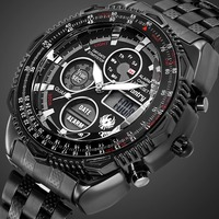 INFANTRY Military Watch Men Analog Digital Mens Watches Top Brand Luxury Army Tactical Pilot Sport Black Clock Relogio Masculino