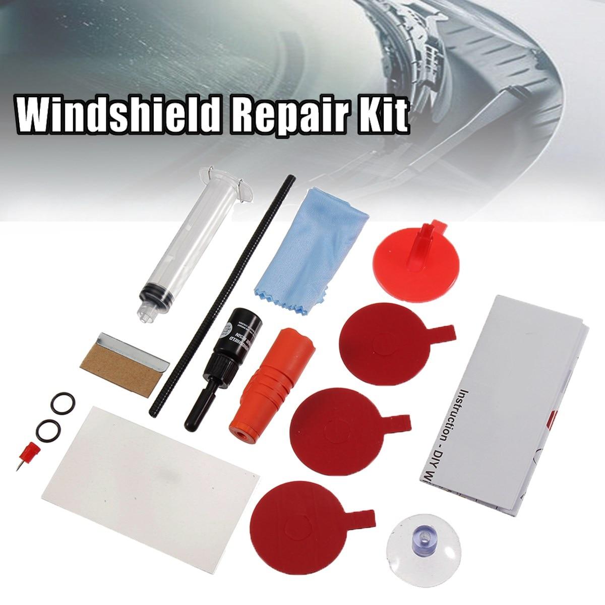 Auto Car Vehicle Window Glass Windshield Scratch Crack Repair Polishing Tool Kit