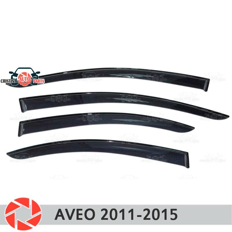 Deflector janela para Chevrolet Aveo T300 2012-2015 chuva defletor sujeira proteção styling acessórios de decoração do carro de moldagem