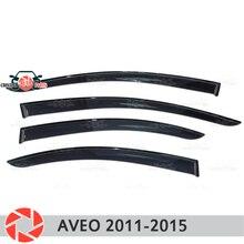 Окна отражатель для Chevrolet Aveo T300 2012-2015 Дождь Отражатель грязь защиты Тюнинг автомобилей украшения аксессуары для литья