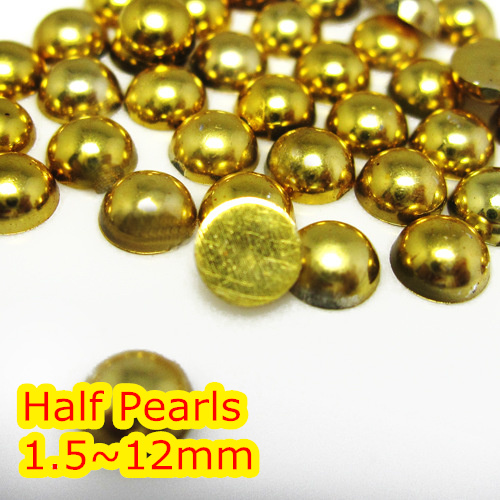Jewelry & Accessories Smart 1.5mm,2mm,4mm,5mm,6mm,8mm,10mm,12mm Jelly Gold Hematite Flat Back Abs Round Half Pearl Beads Beads Imitation Plastic Half Pearl Beads And To Have A Long Life.