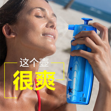 650ml Large Capacity Sprayer Water Bottle Summer Sports Outdoor Portab
