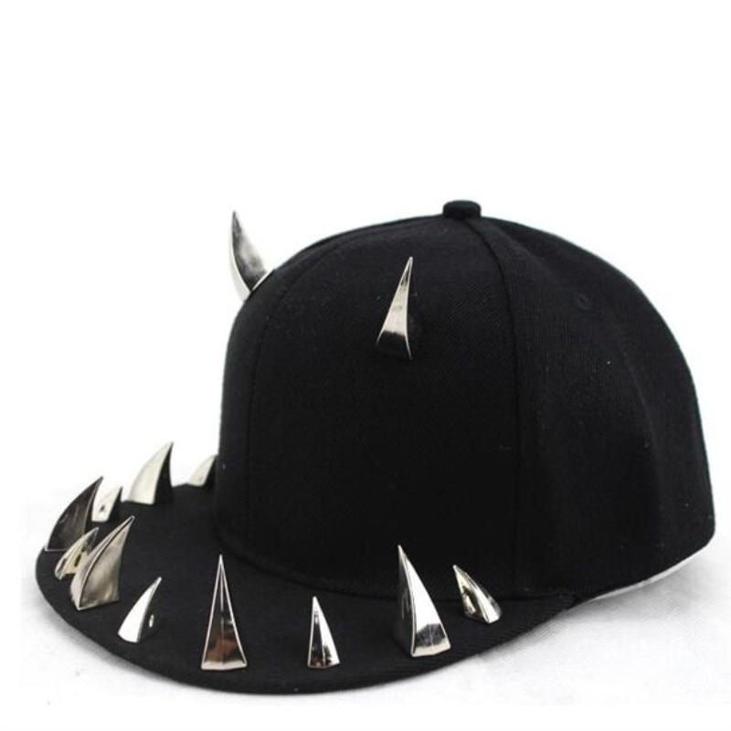 Seioum spiked rivet nail handmade luxury brand snapback for women men white black novelty baseball cap hats