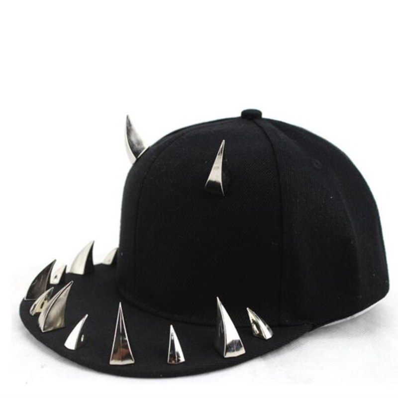 Seioum spiked rivet nail handmade luxury brand snapback for women men white black novelty   baseball     cap   hats