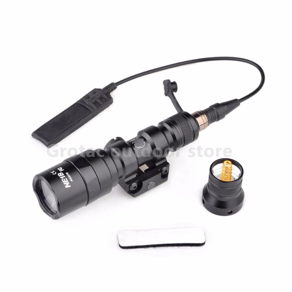 Spor ve Eğlence'ten Silah Işıkları'de M300AA Mini Taktik El Feneri Izci Penligh 200 Lümen Alüminyum Taşınabilir LED el feneri Silah Işıkları LED El Feneri title=