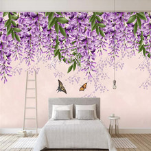 Watercolor style Nordic TV background wall professional production murals wholesale wallpaper mural poster photo wall romantic mediterranean style background wall professional production mural wholesale wallpaper mural poster photo wall