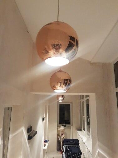 Modern LED Chrome Gold Copper Glass Globe Round Ball Pendant Lights Hanging  Lighting for Dining Room Hanglamp Lamp