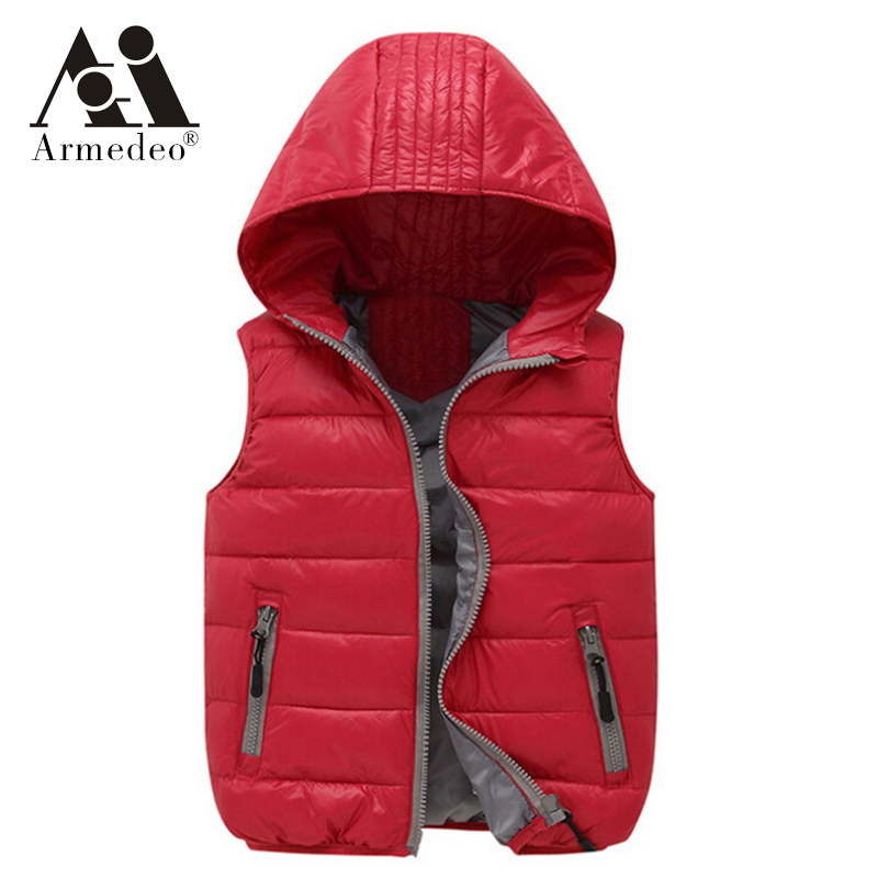 Warm Children vests waistcoats girls/boy Outerwear&Coats vest Brand candy color Kids jackets Autumn/winter baby Outerwear&Coats