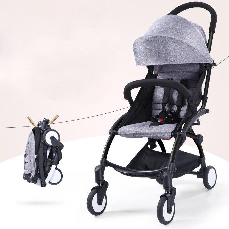2018 bébé poussettes ultra-léger pliage peut s'asseoir peut mentir haute paysage parapluie bébé chariot d'été et d'hiver