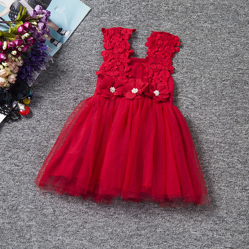 Baby Girl Dress Princess Girls Clothes Summer Children Clothing Kids Lace  Flowers Vestidos Princess Christmas Birthday Dresses-in Dresses from Mother    Kids ... 85f6c739f52c