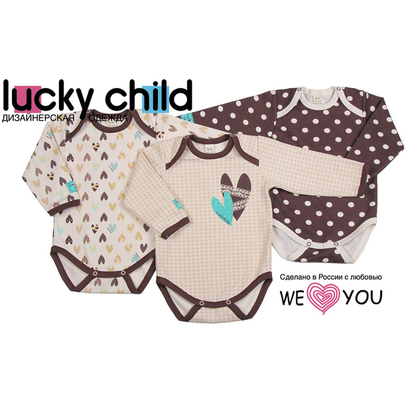 Bodysuit Lucky Child Kid clothes plaid stand collar bodysuit