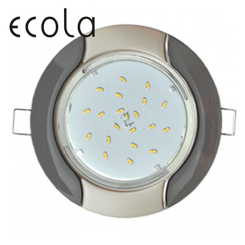 Ecola GX53 H4 Двухцветный тонкий встраиваемый светильник Волна для ламп GX53 36x106 мм