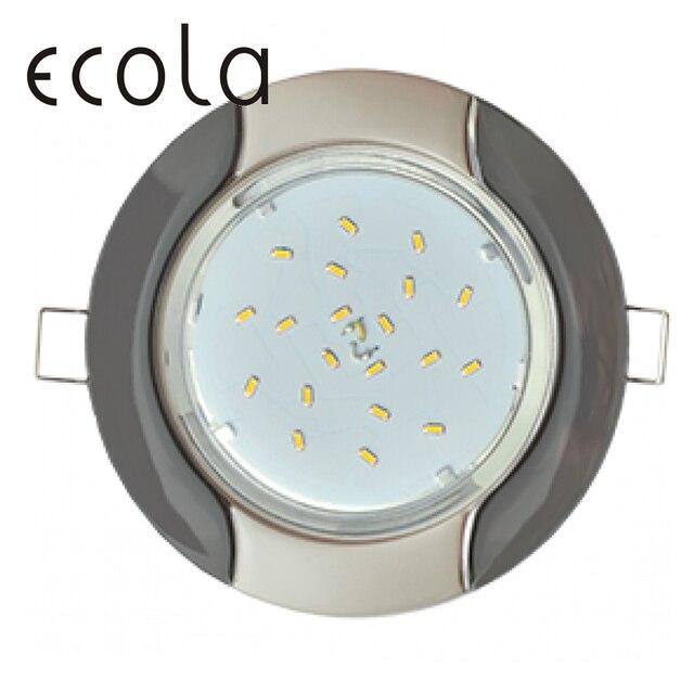 """Ecola GX53-H4 Двухцветный тонкий встраиваемый светильник """"Волна"""" для ламп GX53 36x106 мм"""