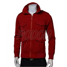 New 2017 Autumn Winter Mens Fashion Luxury Slim Fit Multi-Pocket Jacket Casual Zipper Windbreaker Coat High Quality 4 Colors