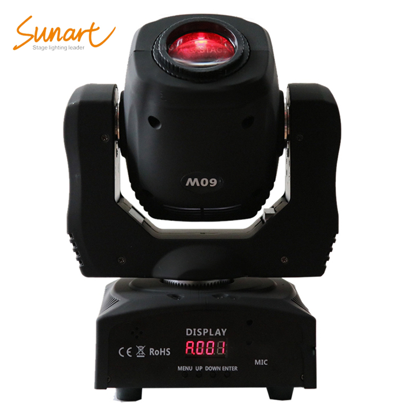 Free Shipping 60W LED Mini Spot Wash Beam Stage Effect Light For DJ Disco DMX Souds Control Moving Head Light