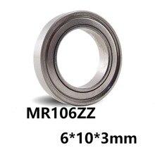 5 шт./лот MR106ZZ глубокий шаровой Миниатюрный Мини-подшипник MR106ZZ MR106-ZZ 6*10*3 мм 6*10*3 Высокое качество подшипниковой стали