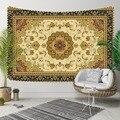Else коричневый желтый аутентичный персидский Турецкий Дизайн 3D принт декоративный хиппи богемный настенный гобелен с пейзажем настенная жи...