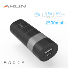 ARUN 2500mAh Power Bank Portable External Battery Powerbank Charger 1 USB Ports For Mobile Phones MP3 MP4 And Digital products