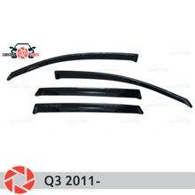 Окна отражатель для Audi Q3 2011-Дождь Отражатель грязь защиты Тюнинг автомобилей украшения аксессуары для литья