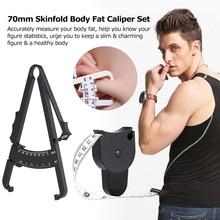 70 мм штангенциркуль для жировых отложений, прибор для измерения жира, измерительная лента с измерительной таблицей, инструмент для ухода за здоровьем тела