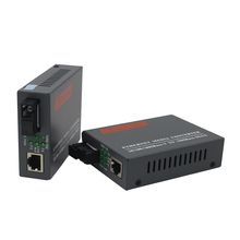 2 Pairs HTB GS 03 A & B Gigabit In Fibra Ottica Media Converter 1000Mbps Modalità Singola Singola Fibra SC Porta 20KM di Alimentazione Esterna di Alimentazione