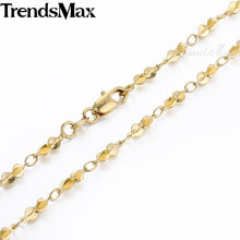 Trendsmax 3MM Bead Link Womens Chain Ladies Yellow Gold Filled GF Necklace Wholesale Jewelry High Quality Jewellery Gift GN359(Hong Kong,China)