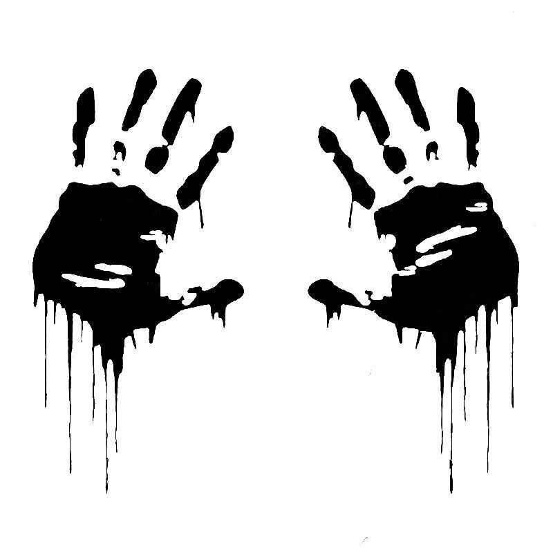 7,5 см * 15 см автомобилей Стикеры 3D зомби окровавленные руки принт Fun пропуск забавные виниловые стикер на машине забавные Стикеры s и наклейка для автомобиля