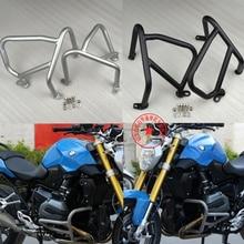 Engine Guard Highway Crash Protector Bars for BMW R1200R 2015-2018 Silver / Black
