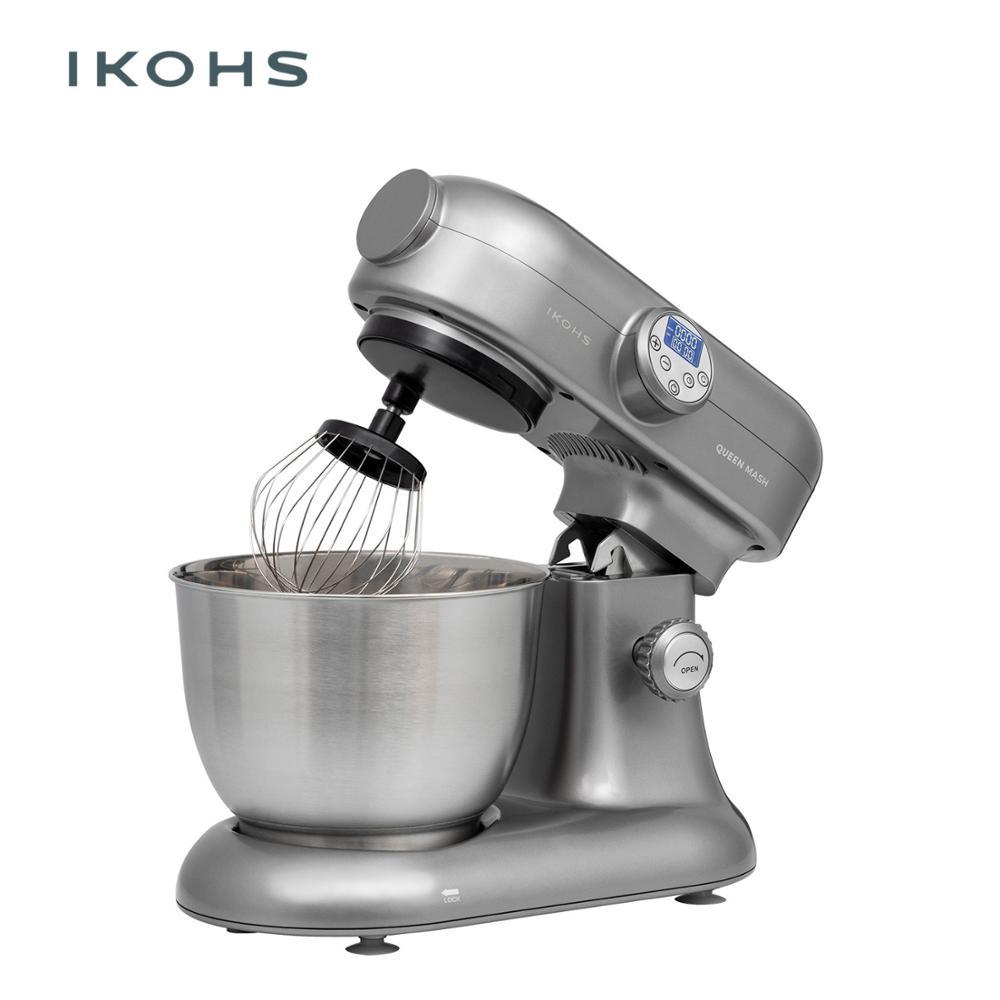 IKOHS QUEEN MASH Food Mixer Stainless Steel 5.5L1200W 10 Speeds Digital High Kitchen Super Silent Professional Blender Device