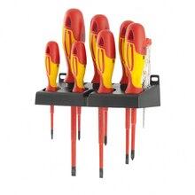 Набор отверток GROSS 12950 (Отвертка-тестер, 7 диэлектрических отверток, двухкомпонентный материал рукоятки, намагниченный наконечник)