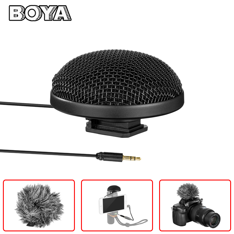 BOYA BY-MM2 Omnidirectional Condenser Stereo Microphone for iPhone X 8 7 6 Plus Canon Nikon Sony DSLR Camera Panasonic Camcorder