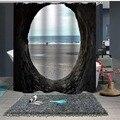 Занавеска для душа на заказ  занавеска для ванной  перегородка 1 5x1 8 м 1 8x1 8 м 1 8x2 м  зеленое отверстие для морского пляжа