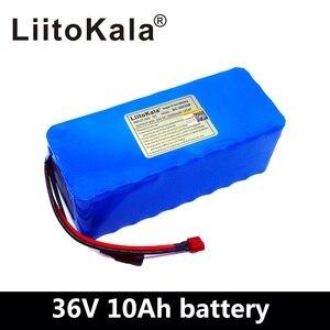 Image 5 - Liitokala 36 v 6ah 8ah 10ah 12ah bateria de bicicleta elétrica construída em 20a bms bateria de lítio 36 volts com 2a carga ebike bateria