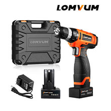 LOMVUM Electric ST Drill Screwdriver Cordless Tool Impact Drills 2 Lithium-Ion Battery Screw Rotary Tool.