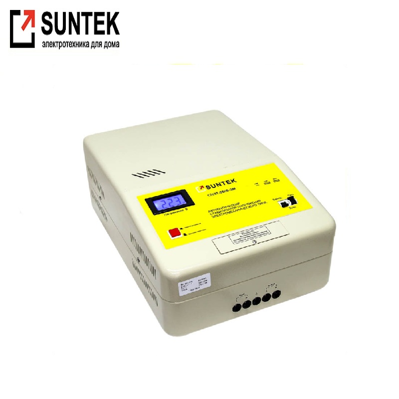 Voltage stabilizer SUNTEK 8500 VA EM Network voltage adjustment Automatic voltage regulator Power stab Active bypass generator avr se350 voltage regulator se350 voltage stabilizer voltage governor