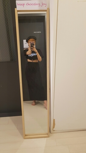 Dotfashion Basic Long Skirt Women Black Elastic Waist Jersey Longline Skirts Fashion Casual Slim Autumn Skirt photo review