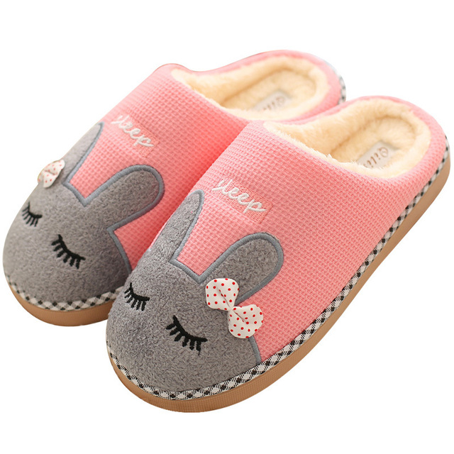 558efc6ec8d7 Christmas Winter Shoes Woman Warm Home Slippers Women Flip Flops Plush  Indoor Slippers Anti-slip