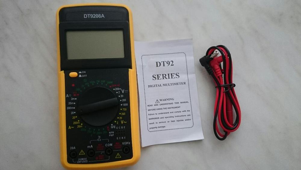 DT-9208A Portable LCD Digital Multimeter AC/DC Voltmeter Ammeter Voltage Current Resistance Capacitance Meter Multi Tester