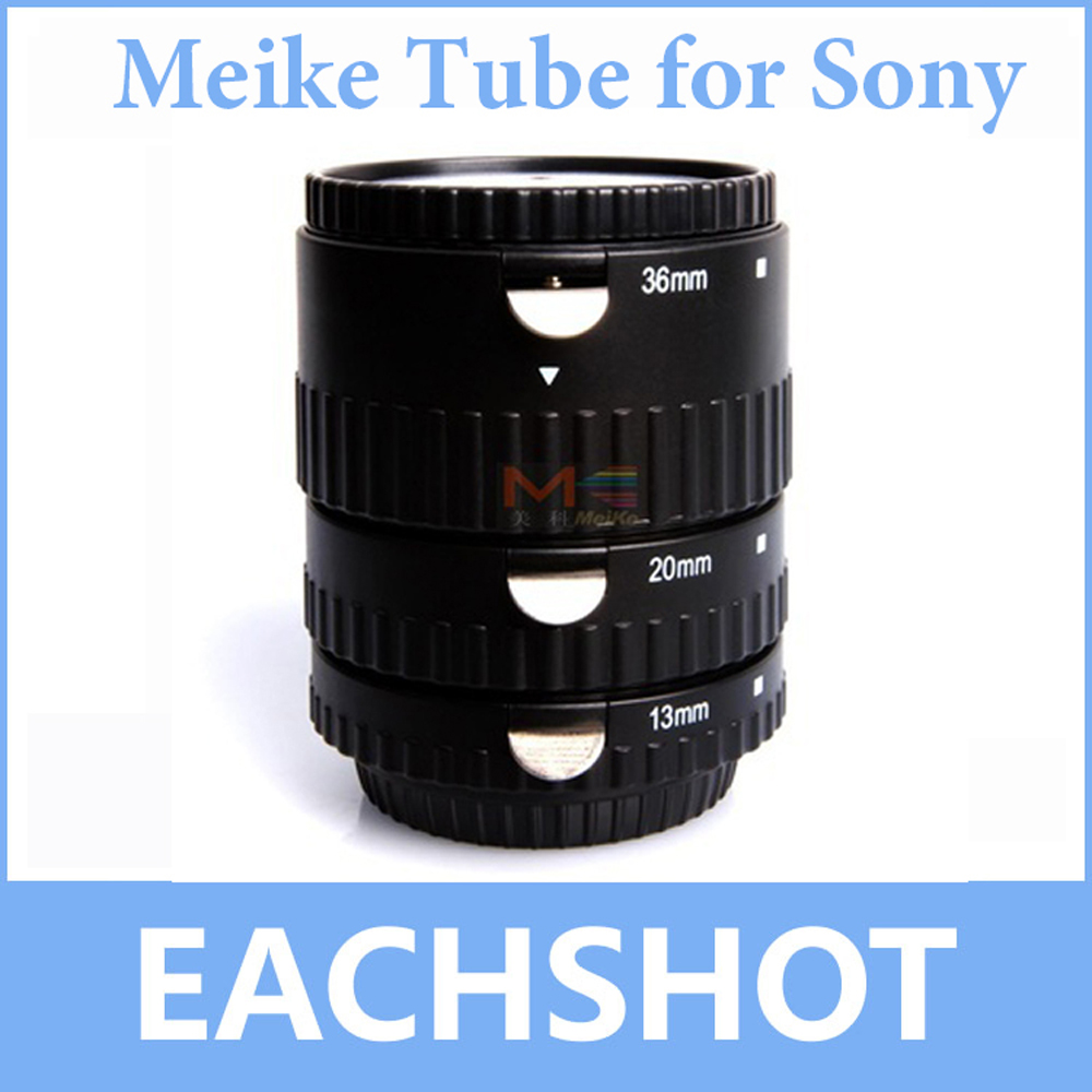 Meike MK-S-AF-B ABS Auto Focus AF Macro Extension Tube Set For Sony Minolta A Mount A99 A58 A350 A550 A77 A580 A200 A33