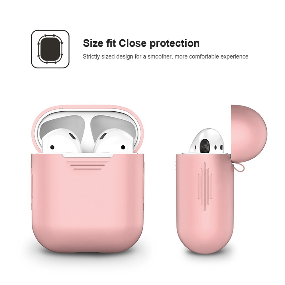 1PCS TPU Silicone Bluetooth Wireless Earphone Case For AirPods Protective Cover Skin Accessories for Apple Airpods Charging Box (6)