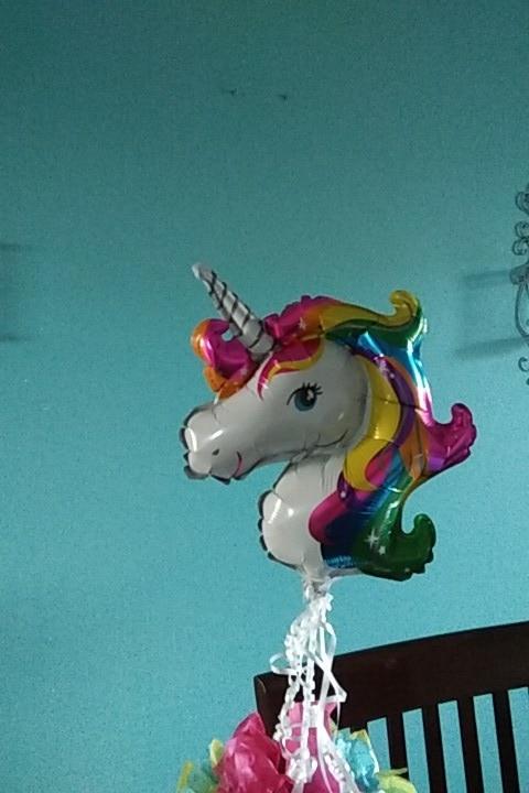 1pc unicorn decor rainbow animal ballons kids party photo review