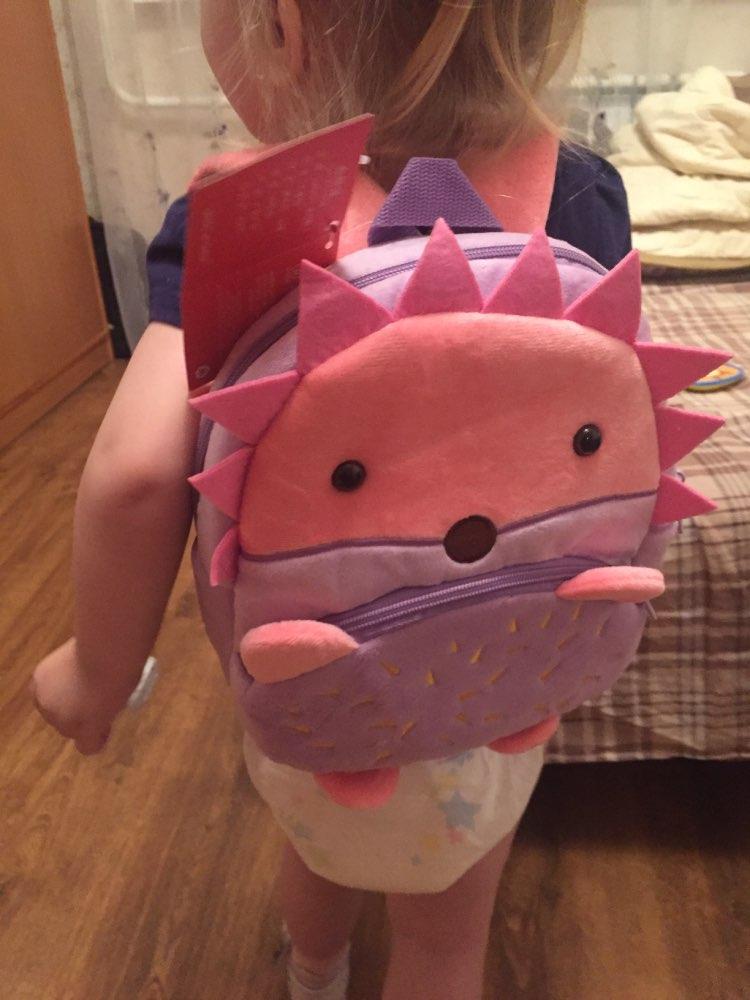 New Kawaii Stuffed Plush Kids Baby Toddler School Bags Backpack Kindergarten Schoolbag for Girls Boys 3D Cartoon Animal Backpack photo review