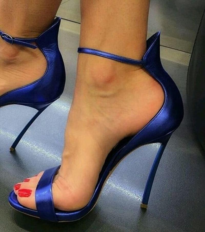 Spartiates As Sandales Mariage Talons 12 Parti Chaussures Boucle D'été Lady Sangle Lame Cm De Picture Toe as Picture Femmes Élégant Peep bf7Y6gy