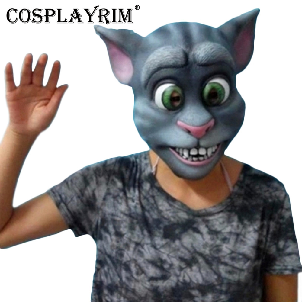 cosplayrim tom cat mask halloween party children toys full face cute